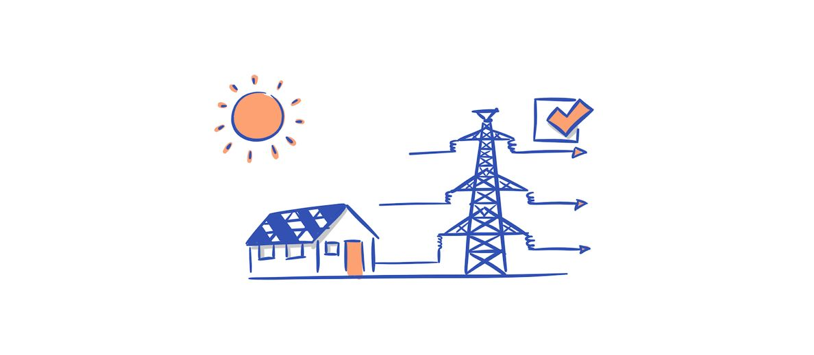 selg strømmen du ikke bruker. Du kan tjene penger på å ha solcellepaneler på taket ditt.